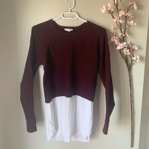 CLUB MONACO / KNIT LONG SLEEVE SWEATER SZ S